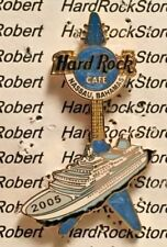2005 HARD ROCK CAFE NASSAU, BAHAMAS BLUE CRUISE SHIP 'V' GUITAR LE PIN