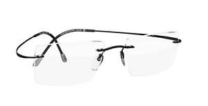 SILHOUETTE Rimless Eyeglasses TITAN MINIMAL ART MUST 5515 CL 9040 Black Frames