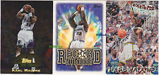 (3) TOPPS 40/RECORD NUMBERS/EXTREME CORPS: KARL MALONE #18/RN1/127 JAZZ LOT