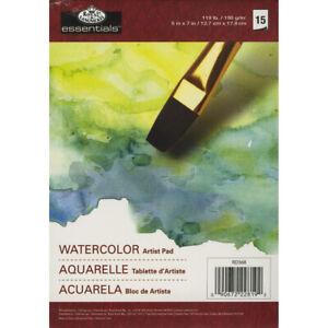 """essentials(TM) Watercolor Artist Paper Pad 5""""X7""""-15 sheets"""