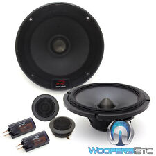 "ALPINE R-S65C 6.5"" 300W LOUD CAR COMPONENT SPEAKERS CROSSOVERS SILK TWEETERS NEW"
