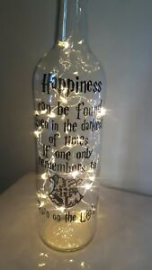 Harry Potter Light Up Bottle RememberTo Turn On The Light Birthday Gifted boxed