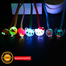 1pcs Cartoon LED Light USB Charger Sync Data Cable line for Samsung Android NEW