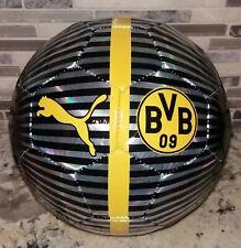 Puma Bvb One 2018 - 2019 Chrome Soccer Ball Black - Silver - Yellow Size 5 New