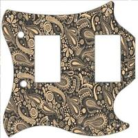 SG Standard Pickguard Custom Gibson Graphical Guitar Scratchplate Paisley BK-CR