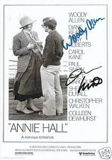 ANNIE HALL - DIANE KEATON & WOODY ALLEN AUTOGRAPH SIGNED PP PHOTO POSTER