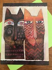 """LAUREL BURCH """"Ancestral Cats"""" FRIENDSHIP All Occasion Cat Card W/Envelope"""
