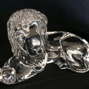Waterford Crystal Lion Figurine Superb