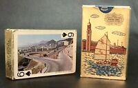 Vintage, Famous Views of Hong Kong, 2 Decks of Playing Cards, #505, VGC+