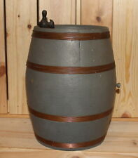 Vintage hand made wood keg barrel figurine