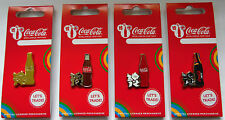 LONDON 2012 OLYMPICS COCA COLA GOLD RED ZERO BOTTLE LOGO 4 PIN SET