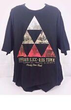 Sean John T-Shirt Men's Size 2XL Tall Black Short Sleeve Tee Geometric