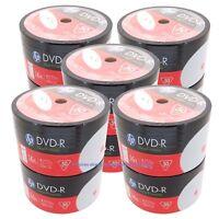 500 HP 16x Blank White Inkjet Printable DVD-R DVDR Recordable Disc Media 4.7GB