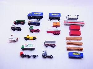 83664 Konvolut Herpa H0 1:87 LKW Trucks Modelle Anhänger Ladegut  22 Stück