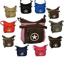 Damentaschen aus Canvas/Segeltuch mit Handytasche und Reißverschluss