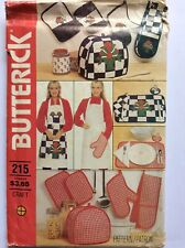 Butterick Sewing Pattern Craft #215 Apron, Toaster Cover, Oven Mitts, Placemats