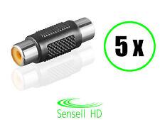 Sensell 5 Audio Stereo Adapter Cinch RCA Buchse Chinch Verbinder Kupplung HiFi