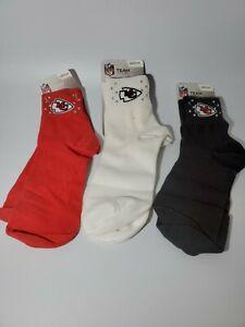 Kansas City Chiefs NFL Women Ankle Socks Size Medium 6-11 Choose Color