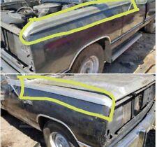 1981-1990 Dodge ram D150 D250 D350 Ramcharger LH & RH front fender trim moldings