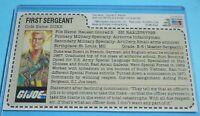 CUSTOM 1984 GI Joe Duke v1 Figure Hasbro Direct Uncut Red Back File Card