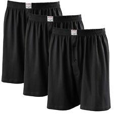 ADAMO Herren Boxershort Übergröße 8- 20 schwarz 3er Pack boxershorts Unterwäsche