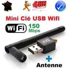 Mini Clé USB WIFI Adaptateur Carte Réseau 150 Mbps +Antenne Win 8, 7, Vista, MAC