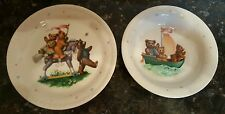 LENOX CHINA BEAR BOWL AND PLATE CHILDS SET