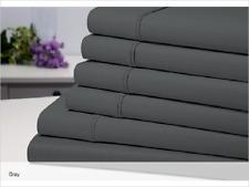 Bamboo Comfort 1800 Series Eco-Friendly 6 Piece Extra Soft Sheet Set, King, Grey