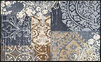 wash+dry Fußmatte Türmatte Bodenmatte waschbar Läufer 50 x 75 cm Armonia grey
