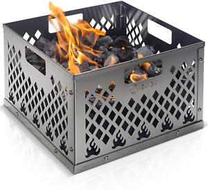 Charcoal Basket Outdoor Firebox BBQ Smoker Steel Grill Box For Oklahoma Joe NEW
