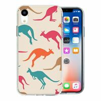 For Apple iPhone XR Silicone Case Australia Kangaroo Pattern - S5966