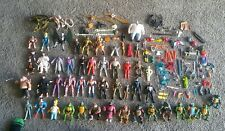Large Lot of Vintage Action Figures Star Wars Turtles DC Marvel Etc Weapons
