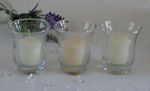 Hurricane Candle Tea Light Holder Votive Lantern Glass Storm Vase - Wedding
