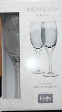Denby Monsoon Filigree White Wine Pair Gift Set