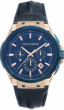 Vince Camuto Vc/1111Nvrb Mens Blue & Rose-Gold-Tone Watch
