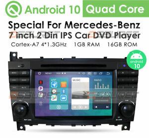 For Mercedes Benz C Class W203 W209 Car Stereo Radio DVD GPS Sat Nav BT DAB+ SWC