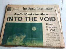 Dallas Times Herald Newspaper - December 22, 1968 - Apollo 8