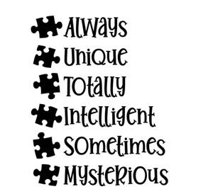 "Magnolia Design Autism -Reusable Adhesive Silkscreen Stencil 8.5""x11"""