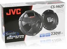 "SEALED NEW JVC CS-V627 6.5"" 2-Way Carbon Mica Auto Car Speaker Pair 230W 6 1/2"""