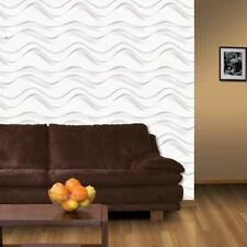 3D Wall Panel Breaker Wave 12 Tiles 32sqft Paintable Home Decoration EcoFriendly
