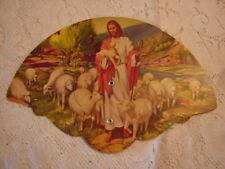 Vtg. Fan GOOD SHEPHERD - Marvin Ginder Myers Pumps Tamaqua, Pa Mantzville, Pa