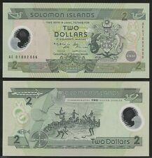 SOLOMON ISLANDS - 2 Dollars 20(01) Pick 23  UNC  Polymer