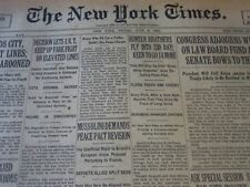 1930 JULY 4 NEW YORK TIMES - HUNTER BROTHERS FLY INTO 23D DAY - NT 6341