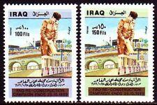 Irak Iraq 1989 ** Mi.1473/74 Wiederaufbau Reconstruction Bauwerke Buildings