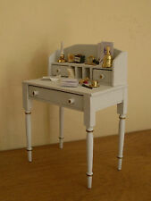 Dollshouse miniature ~ * French Style * DOVE GREY  ~ Desk & Accessories