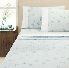 Isla Blue Soft Flannelette Sheet Set | Cotton | Cuffed & Piped | King Single