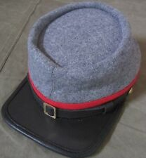 CIVIL WAR CSA CONFEDERATE ARTILLERY GREY WOOL KEPI FORAGE CAP HAT-XLARGE