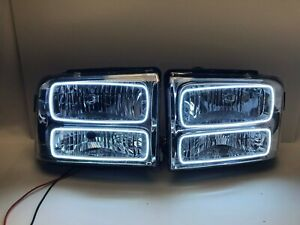 ORACLE 2005 FORD EXCURSION PRE-ASSEMBLED LED HALO HEADLIGHTS - CHROME SMD WHITE
