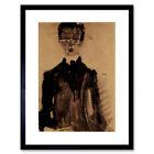Egon Schiele Self Portrait In A Black Robe Old Master Framed Wall Art Print