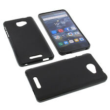 Custodia per Alcatel One Touch Pop 4S Custodia Cellulare TPU GOMMA Nero
